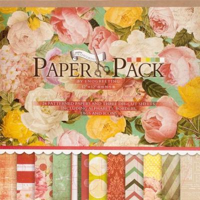 Набор бумаги для скрапбукинга БЕЛОСНЕЖКА Яркие цветы / 027-SB