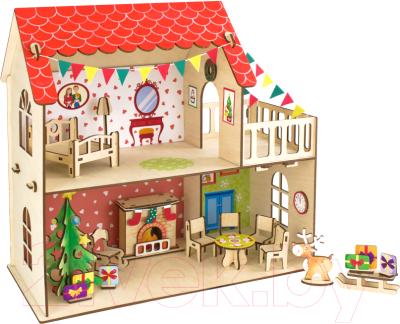 Сборная игрушка Woody Кукольный дом. Зимняя сказка / 02895