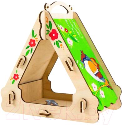 Сборная игрушка Woody Кормушка для воробушка / 02925