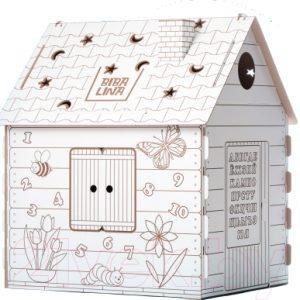 Сборная игрушка BibaLina Дом-раскраска / КДР03-001