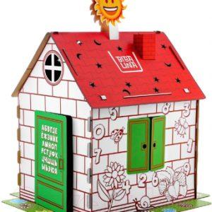 Сборная игрушка BibaLina Дом-раскраска / КДР03-003