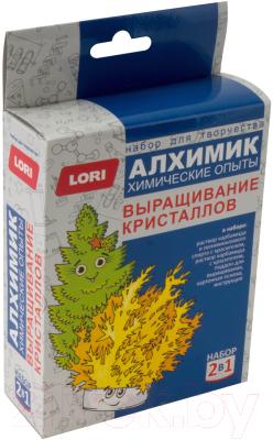 Набор для выращивания кристаллов Lori Химические опыты. Выращивание кристаллов / Оп-038