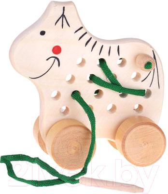 Развивающая игрушка RNToys Лошадка на колесиках массив / Ш-064