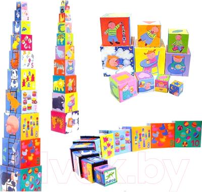 Развивающая игрушка Djeco Пирамида. Забавные кубики / 08503