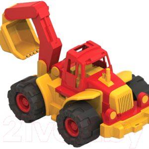 Трактор игрушечный Нордпласт Богатырь с ковшом / 098