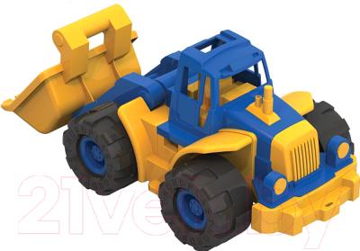 Трактор игрушечный Нордпласт Богатырь с грейдером / 099