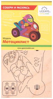 Сборная игрушка Ugears Мотоциклист 10006