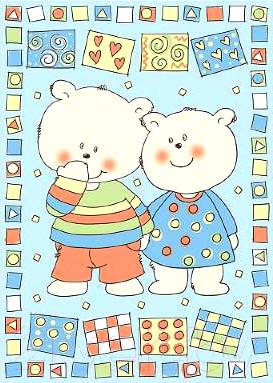 Плед детский ОТК Два медведя 100x140 / D321511/12BL