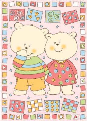 Плед детский ОТК Два медведя 100x140 / D321511/12RO