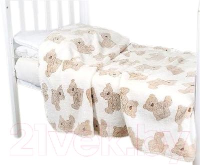 Плед детский ОТК Бежевые мишки 100x150