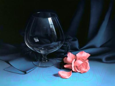 Набор алмазной вышивки Алмазная живопись Бокал и роза / АЖ-1050