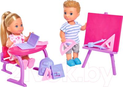 Набор кукол Simba Куколка Эви и Тимми на уроке / 105733210
