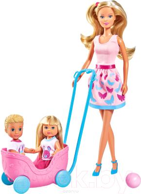 Набор кукол Simba Штеффи и Эви Веселая прогулка 105733229