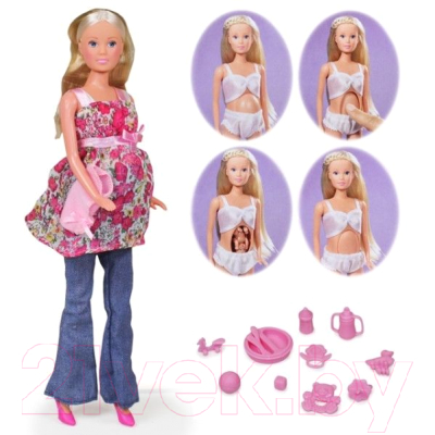 Кукла с аксессуарами Simba Штеффи беременная 105734000
