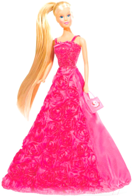 Кукла с аксессуарами Simba Штеффи в платье с розами 105739003