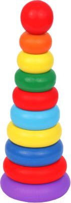 Развивающая игрушка Краснокамская игрушка Пирамидка кольцевая / Пир-10