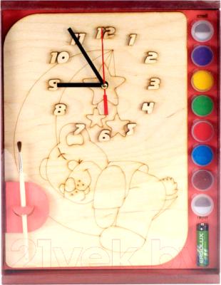Набор для творчества Нескучные игры Мишутка. Часы с циферблатом / ДНИ112