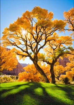 Набор алмазной вышивки Алмазная живопись Осеннее дерево / АЖ-1166