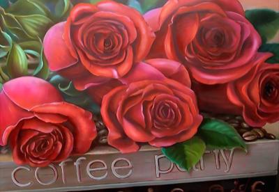 Набор алмазной вышивки Алмазная живопись Прекрасные розы / АЖ-1170