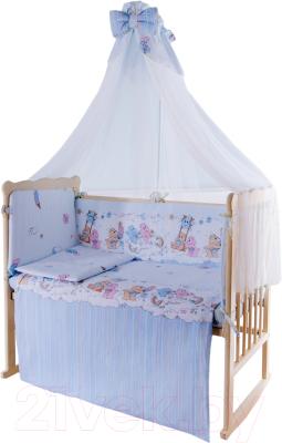 Комплект постельный в кроватку Баю-Бай Забава / К120-З4