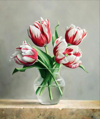 Набор алмазной вышивки Алмазная живопись Распускающиеся тюльпаны / АЖ-1209