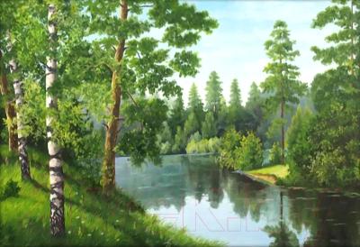 Набор алмазной вышивки Алмазная живопись Лесная река / АЖ-1243