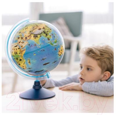 Глобус Globen Зоогеографический на круглой подставке / 12500269