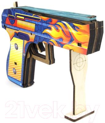 Пистолет игрушечный WoodLand Toys Фламер с резинками / 125105