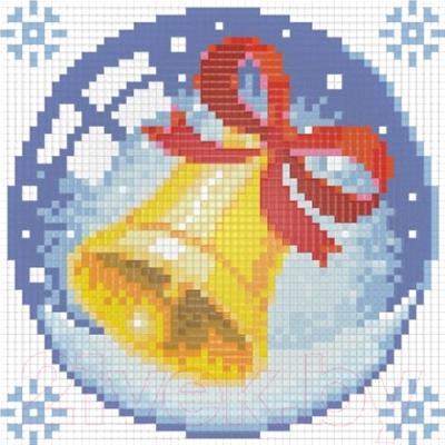 Набор алмазной вышивки Алмазная живопись Новогодний шарик с колокольчиком / АЖ-1257