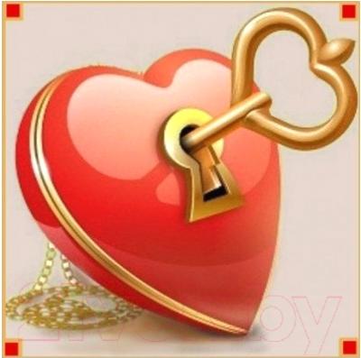 Набор алмазной вышивки Алмазная живопись Ключ от сердца / АЖ-1294