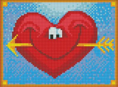 Набор алмазной вышивки Алмазная живопись Довольное сердце / АЖ-1309