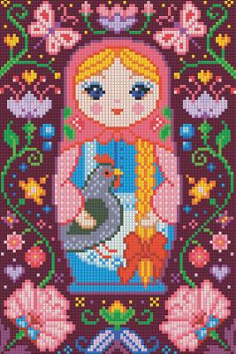 Набор алмазной вышивки Алмазная живопись Матрешка с курочкой / АЖ-1323