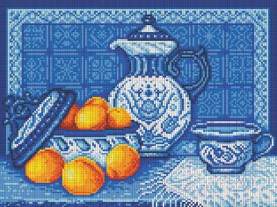 Набор алмазной вышивки Алмазная живопись Натюрморт Гжель / АЖ-1326