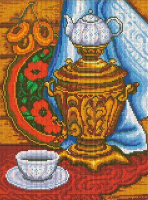 Набор алмазной вышивки Алмазная живопись Русское чаепитие / АЖ-1327