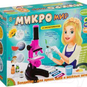 Детский микроскоп Bondibon Микромир. 13 экспериментов / ВВ3379