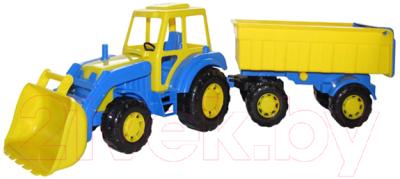 Трактор игрушечный Полесье Алтай №1 с прицепом и ковшом / 35349