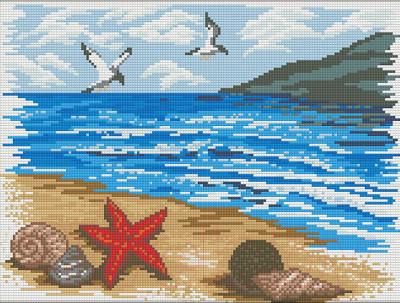 Набор алмазной вышивки Алмазная живопись Морской берег / АЖ-1362