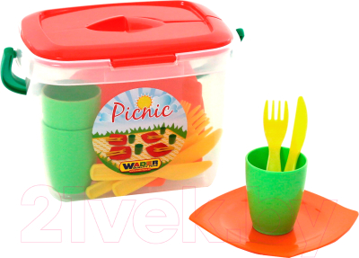 Набор игрушечной посуды Полесье Алиса для пикника №1 / 40756