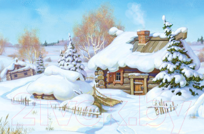 Набор алмазной вышивки Алмазная живопись Зимняя избушка / АЖ-1420