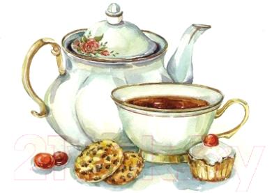 Набор алмазной вышивки Алмазная живопись Сладости к чаю / АЖ-1426