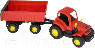 Трактор игрушечный Полесье Крепыш №1 с прицепом / 44792