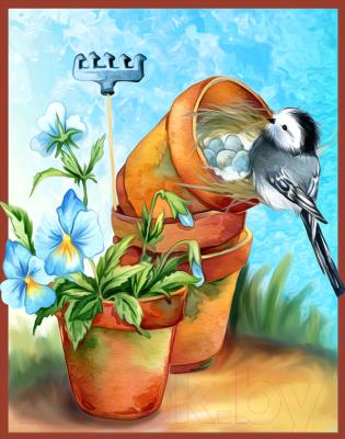 Набор алмазной вышивки Алмазная живопись Уютное гнездышко / АЖ-1468