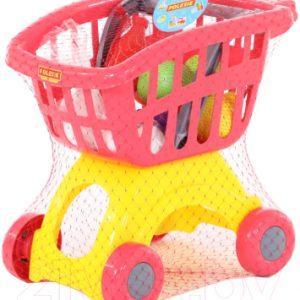Тележка игрушечная Полесье Мини с набором продуктов №14 / 71385