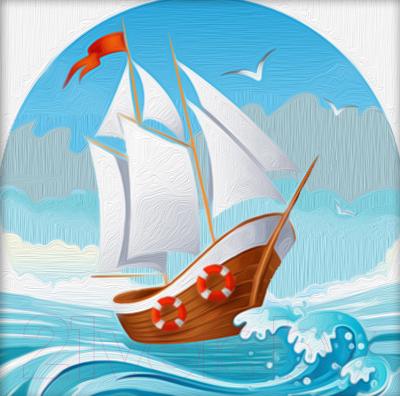 Набор алмазной вышивки Алмазная живопись На морских волнах / АЖ-1481