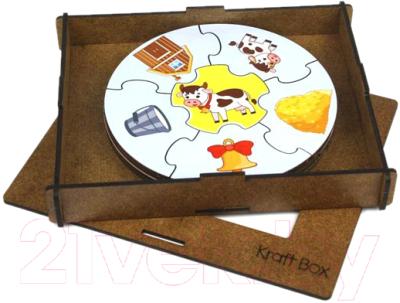Пазл WoodLand Toys Домашние животные. Круглые / 149104