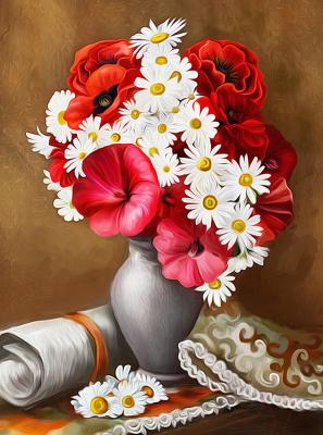 Набор алмазной вышивки Алмазная живопись Пылкие маки / АЖ-1510