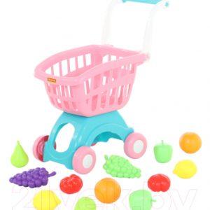 Тележка игрушечная Полесье Тележка Мини с набором продуктов №15 / 71392