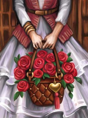 Набор алмазной вышивки Алмазная живопись Цветочница / АЖ-1576