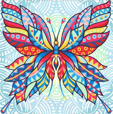 Набор алмазной вышивки Алмазная живопись Узор бабочки / АЖ-1578