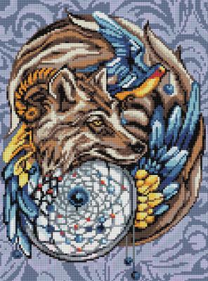 Набор алмазной вышивки Алмазная живопись Волшебный амулет / АЖ-1592